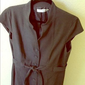 Calvin Klein grey button down dress